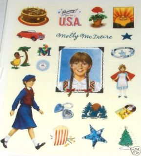 AMERICAN GIRL MOLLY HALLMARK STICKERS RETIRED