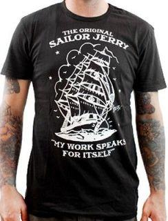 NEW RETRO VINTAGE SAILOR JERRY MENS T SHIRT SHIP DESIGNER HOMEWARD