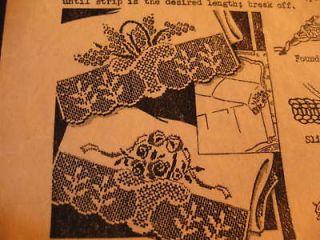 Vtg Crochet/Embroi dery Pattern Alice Brooks 6038 flower