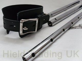 LEG SPREADER RESTRAINT BAR WITH LEATHER ANKLE CUFFS, ANKLE RESTRAINTS