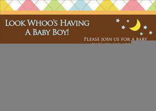 Whoo Loves You OWL BABY SHOWER INVITATION BIRTHDAY ANNIVERSARY INVITES