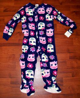 New Girls JOE BOXER Navy Blue Purple Pink Fleece Flower Owl Pajamas