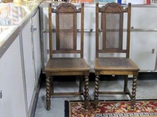 Antique Furniture barley twist chairs