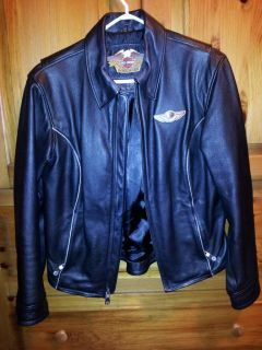 100th Anniversary Harley Davidson Leather Jacket, Womens Medium, RARE