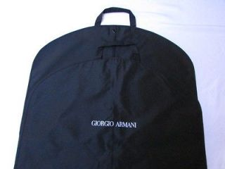 NEW GIORGIO ARMANI BLACK FABRIC SUITS DRESS TRAVELING LONG GARMENT BAG