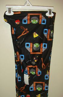 Angry Birds Pigs Boys Size L 10/12 Black Lounge Pants Pajama PJ