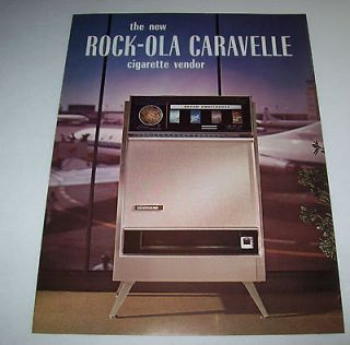 CARAVELLE VINTAGE ORIGINAL CIGARETTE VENDING MACHINE FLYER BROCHURE