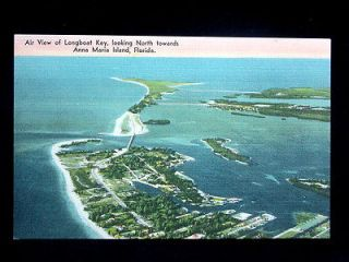 1940 Air View Longboat Key ing North towards Anna Maria Island