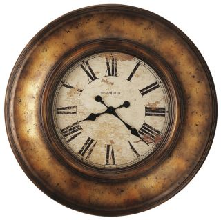 HOWARD MILLER   LARGE GALLERY WALL CLOCK RUSTIC 625 540