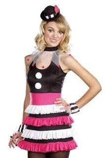 Cute Teen Girls Juniors Circus Clown Halloween Costume
