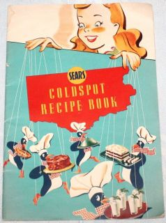 Coldspot Refrigerator Recipe Book  Vintage Tips Hints Cooking Use
