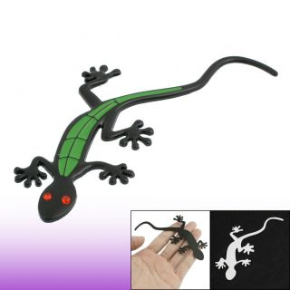 Plastic Crystal Eyes Black Green 3D Gecko Sticker Decal Car Auto Truck