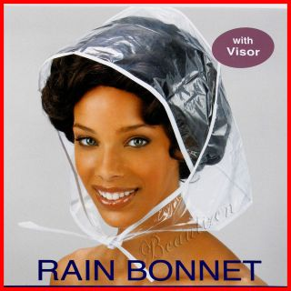 Annie RAIN BONNET with Visor Protect your hair style from rain