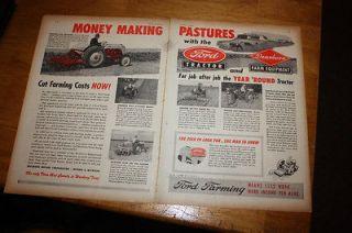 Vintage Advertisement Ford Tractors / Dearborn Farm Equipment a