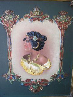 antique tri fold mirror