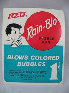 Gumball Rain Blo 1 Cent Vending Machine Card Vintage 60s Rockabilly