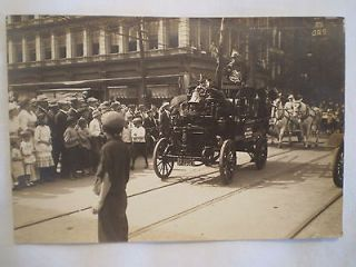 ANTIQUE PHOTO 1914 LABOR DAY PARADE ERIE PA AERIAL FIRE TRUCK