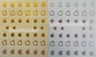 Apple Computer Logo Design Label Water Transfer Nail Art Decals Seals