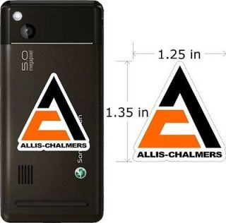 ALLIS CHALMERS TRACTOR NEW LOGO CELL PHONE DECAL STICKER STICKERS