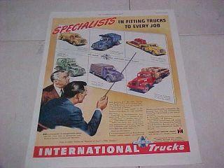 1947 International Truck Advertisement, Vintage Ad