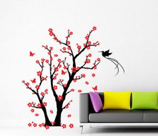 Wall Decor Art Vinyl Removable Mural Decal Sticker Cherry Blossom Tree