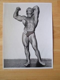 Bodybuilder DAVE DRAPER bodybuilding B & W ORIGINAL photo by Studio
