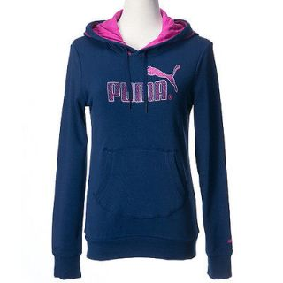 BN PUMA Women Graphic Hoody Sweat Medieval Blue Asia Size 82299301