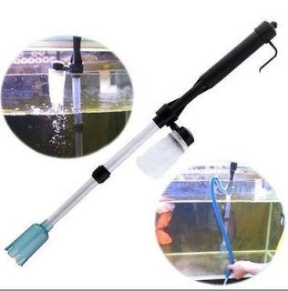 Cool Aquarium Fish Tank Gravel Filter Water Pump Vacuum Cleaner