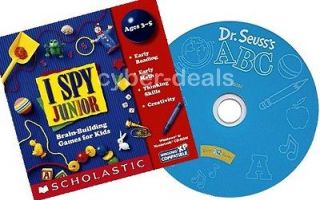 Lot Scholastic I SPY JUNIOR + Dr Seuss ABC Bundle PC MAC