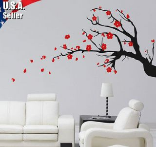 Wall Art Decor Vinyl Removable Mural Decal Sticker Cherry Blossom