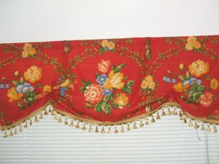 Pierre Deux Gittens Red Yellow French Country London Window Valance