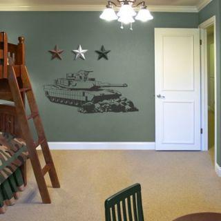 Tank Army Boys Kids Room Wall Art Decor Decal Large New