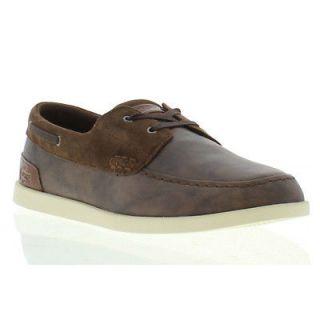 Lacoste Shoes Genuine Arverne Brown Mens Deck Shoes Sizes UK 7   12