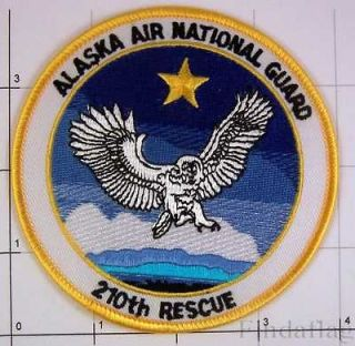 Alaska Air National Guard 210th Rescue Bird Star Sky Patch