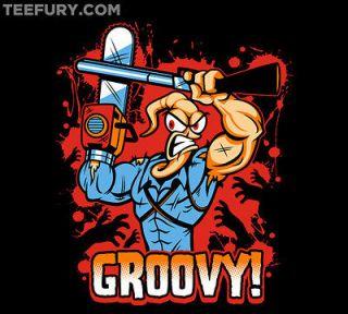 Earthworm Ash   Evil Dead Earthworm Jim TeeFury Tee Shirt   MXL Mens