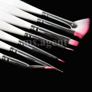 7pcs Nail art Design painting pen polish set make up tool H24