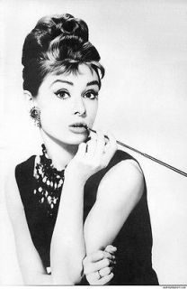 Audrey Hepburn Breakfast at Tiffanys big silk poster 20x13