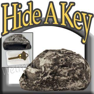 Hide a Key Holder Hider Fake Garden Rock Yard Stone Outdoor