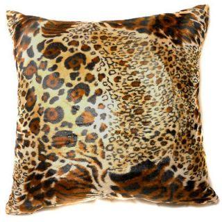 EF16 Faux Fur Brown Black Tiger Skin Print Cushion Cover/Pillow Case
