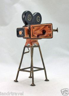 NEW FRENCH LIMOGES BOX SILENT MOVIE CAMERA W REELS CHARLIE CHAPLIN HAT