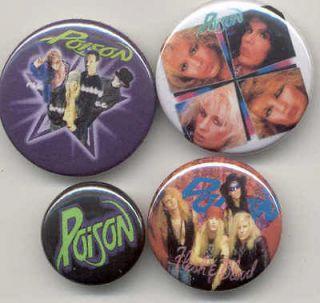 buttons badges pinbacks pins 80s heavy metal hard rock hair bands
