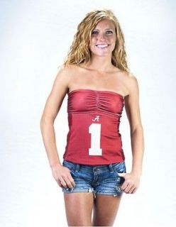 MISS FANATIC APPAREL*ALABAM A CRIMSON TIDE TUBE TOP JERSEY* UNIVERSITY