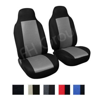 Fabric Pair Bucket Seat Covers Gray
