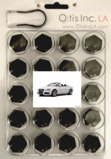 99 9712 B S5 BLACK lug bolt covers AUDI S5 wheels FREE SHIPPING in the