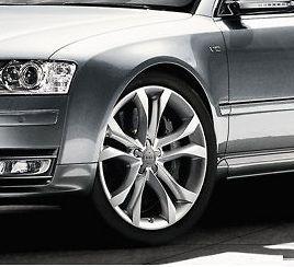 Audi S8 Style Rims 17 Hyper Silver Wheels A6 3.2 4.2 Avant Quattro