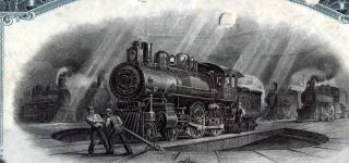 New York Central & Hudson River Railroad Bond Stock Certificate