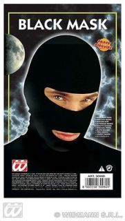 Black Ski Mask Ninja Samurai Thief Robber Fancy Dress