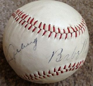 Babe Ruth and Lou Gehrig dual signed 1928 baseball JSA