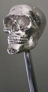 chrome plated silver Universal shift shifter knob handle bone lever