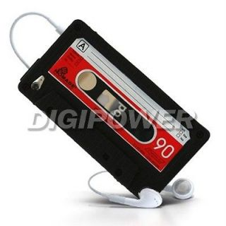 Newly listed BLACK CASSETTE TAPE CASE COVER SKIN FOR IPOD TOUCH 4 4G